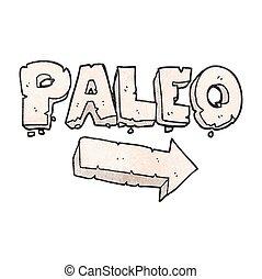 texture cartoon paleo diet pointing arrow - freehand drawn...