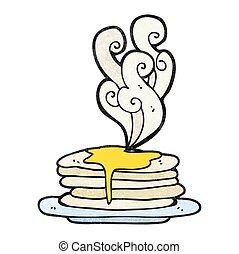 texture cartoon stack of pancakes