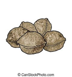 texture cartoon walnuts