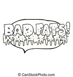 texture speech bubble cartoon bad fats - freehand drawn...
