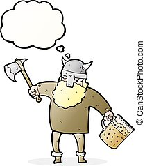 thought bubble cartoon drunk viking