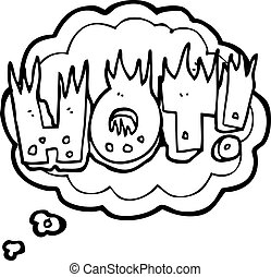 thought bubble cartoon hot symbol