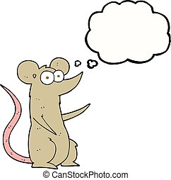thought bubble cartoon mouse in love