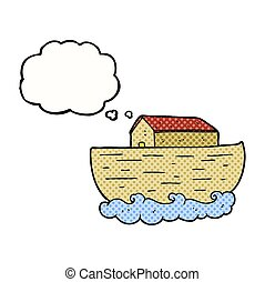 thought bubble cartoon noah's ark