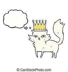 thought bubble cartoon posh cat