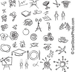 Freehand elements for design. Vector illustration on white...