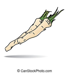 Freehand drawing horseradish icon - vector eps 10 illustration