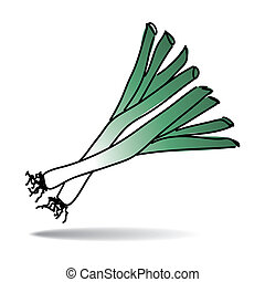 Freehand leek - Freehand drawing leek icon - vector eps 10...