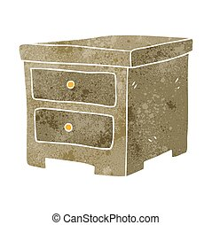 retro cartoon chest of drawers - freehand retro cartoon...