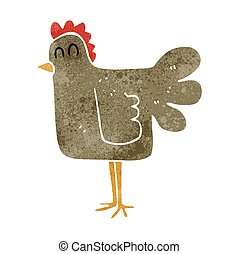 retro cartoon chicken