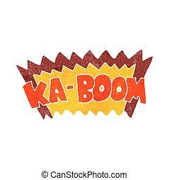 retro cartoon comic book explosion