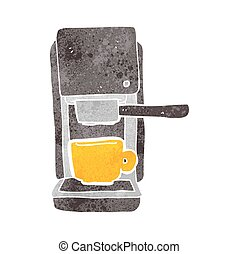 retro cartoon espresso maker