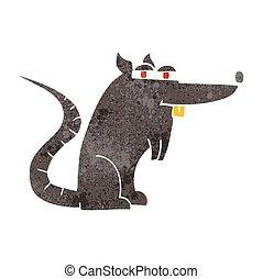 retro cartoon evil rat