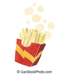 retro cartoon french fries