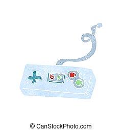 retro cartoon game controller