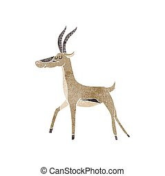 retro cartoon gazelle
