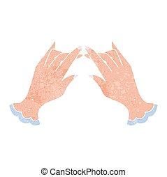 retro cartoon hands