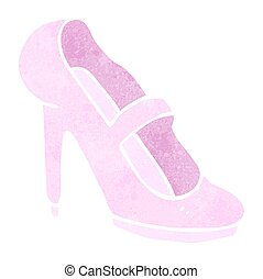 retro cartoon high heeled shoe