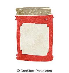 retro cartoon jam jar - freehand retro cartoon jam jar