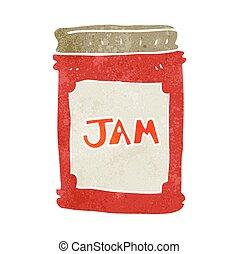 retro cartoon jam jar