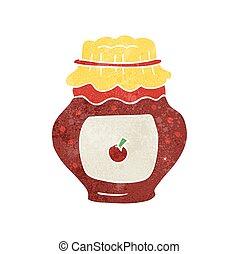 retro cartoon jar of jam