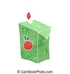 retro cartoon juice box - freehand retro cartoon juice box