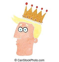 retro cartoon kings head
