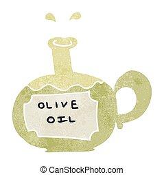 retro cartoon olive oil
