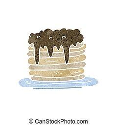 retro cartoon pancake stack