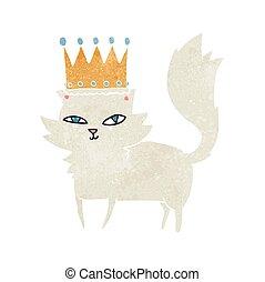 retro cartoon posh cat