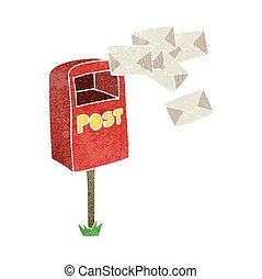 retro cartoon post box