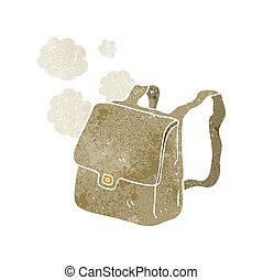 retro cartoon satchel - freehand retro cartoon satchel