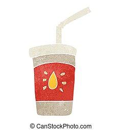 retro cartoon soda drink