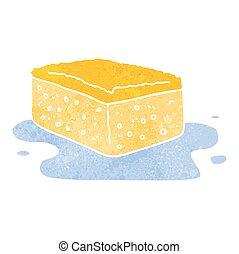 retro cartoon sponge - freehand retro cartoon sponge