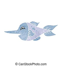 retro cartoon swordfish