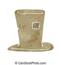 retro cartoon tramp top hat