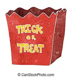 retro cartoon trick or treat bag