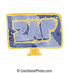 retro cartoon zap screen