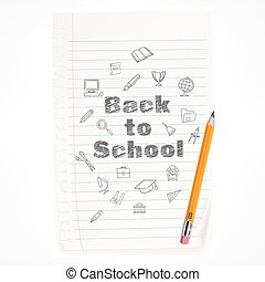Freehand school illustration pencil