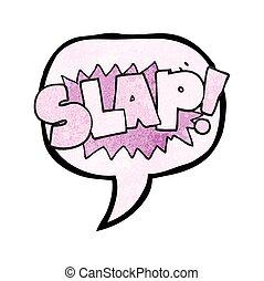 speech bubble textured cartoon slap symbol - freehand speech...
