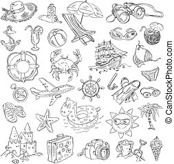 freehand, teckning, sommar ferier