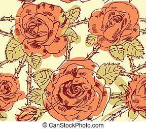 freehand, tekening, rozen
