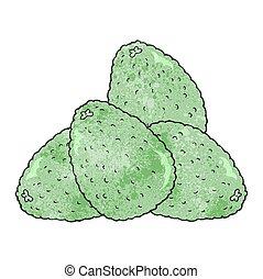textured cartoon avocados