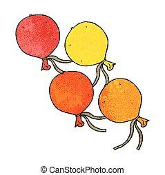 textured cartoon balloons