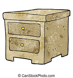 textured cartoon chest of drawers