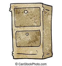 textured cartoon chest of drawers - freehand textured...
