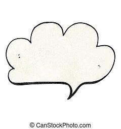 textured cartoon cloud speech bubble
