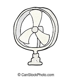 textured cartoon desk fan
