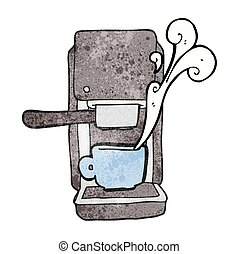 textured cartoon espresso maker
