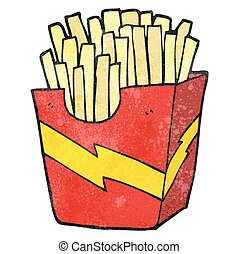 textured cartoon french fries